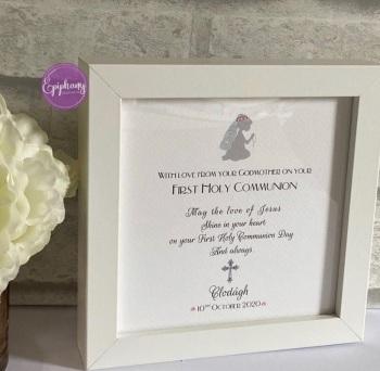Religious Celebration Keepsake frame - communion, confirmation