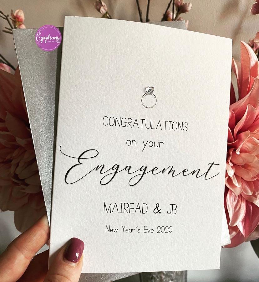 Engagement Congratulations Card - script