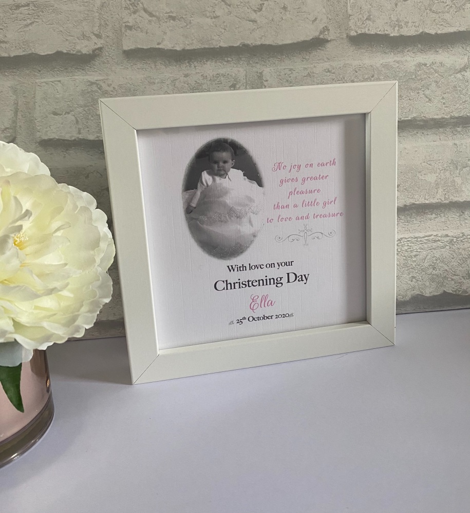 Christening  Keepsake frame