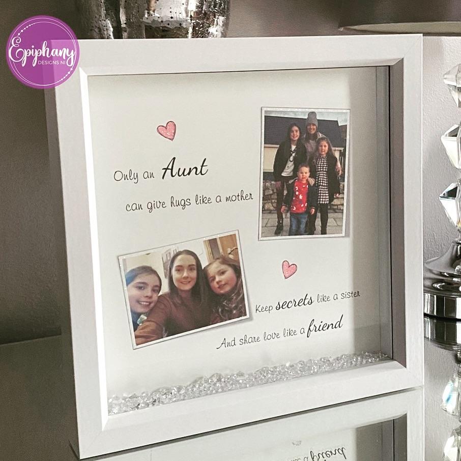 Photo Box Frame - Aunt keepsake