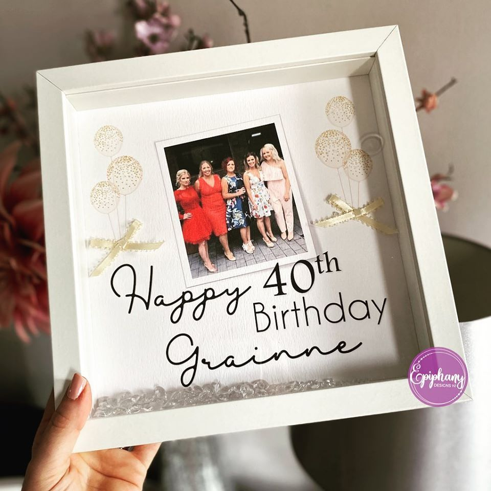 Photo Box Frame - Birthday