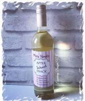 After school Snack - Teacher or Classroom Assistant - Wine bottle label