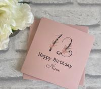 Birthday card with Age Rose Gold