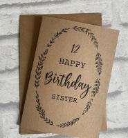 Birthday card - Kraft card - for her