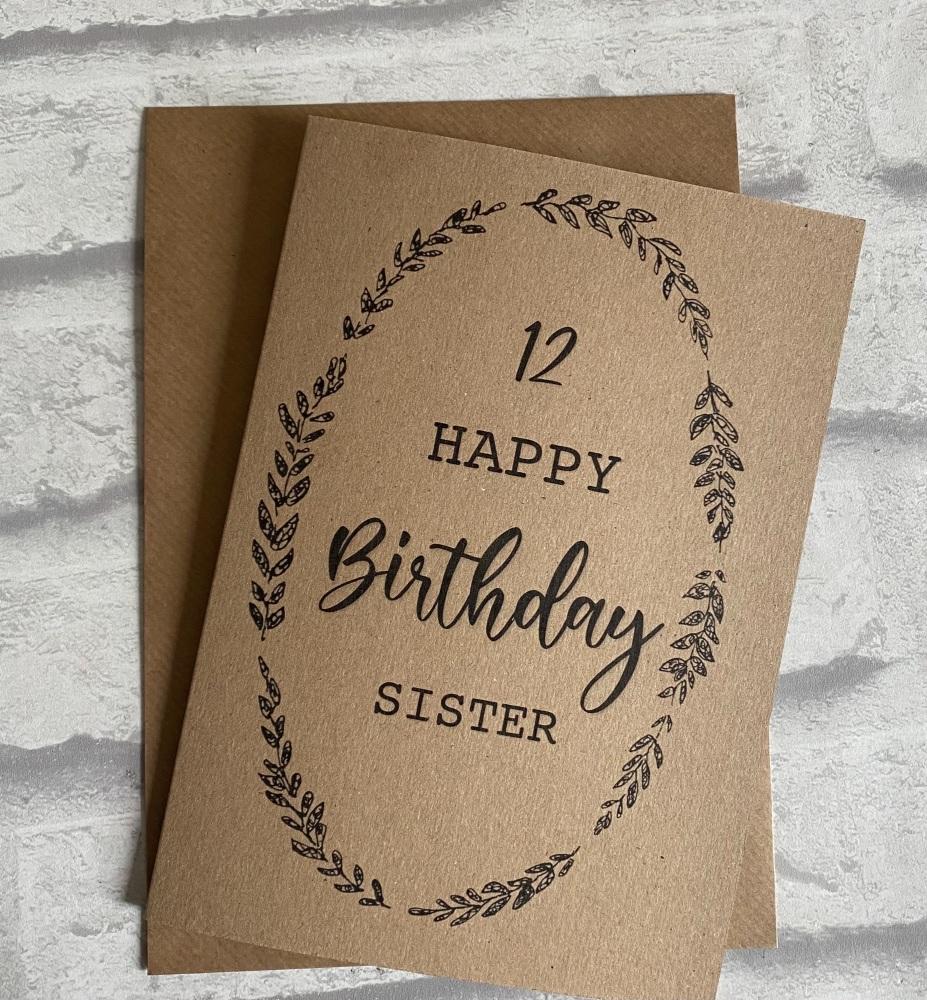 Birthday card - Kraft brown card
