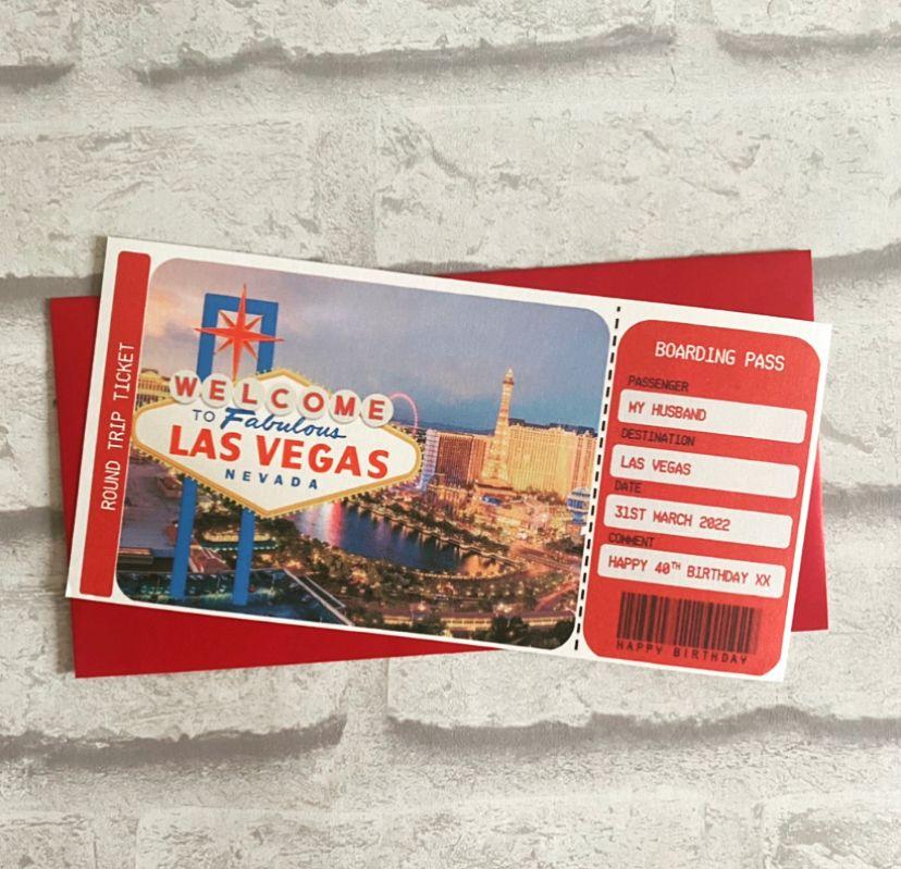 Boarding Pass - Las Vegas