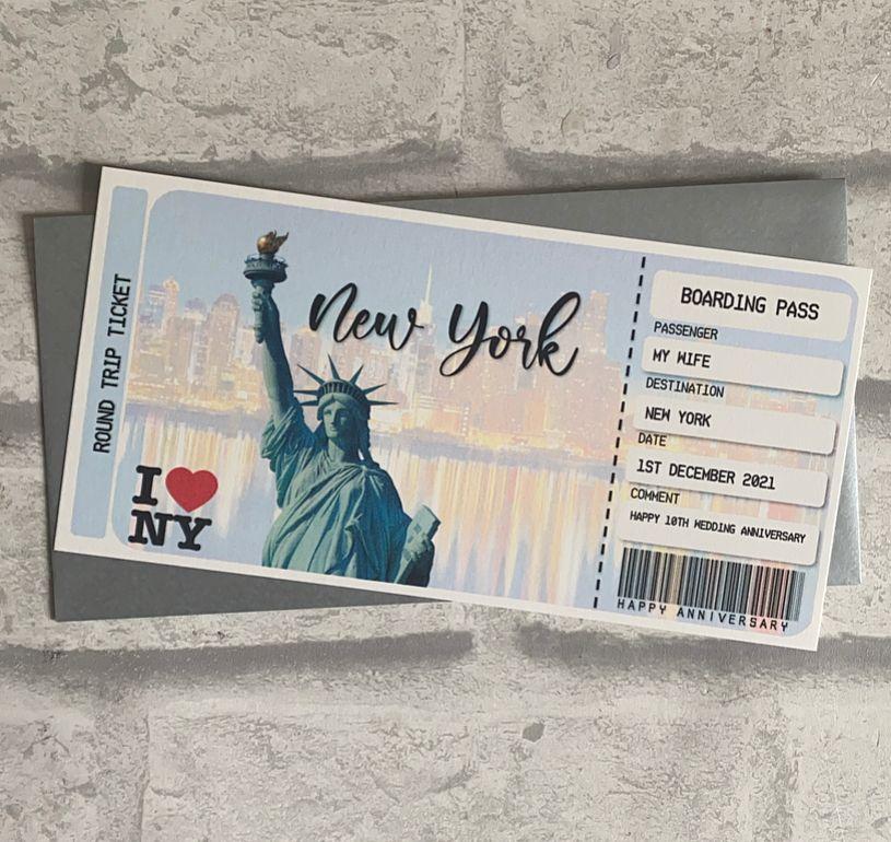 Boarding Pass - New York
