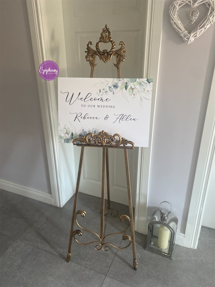 Welcome to our Wedding Sign - board mount