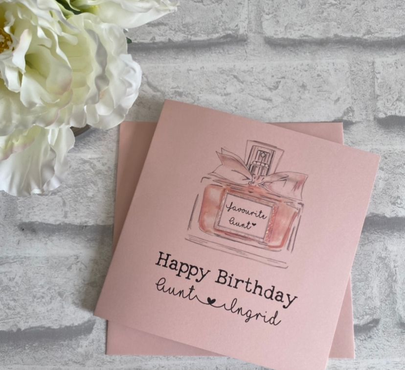 Birthday card for her - perfume