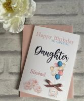 Birthday card for her - perfume and balloons