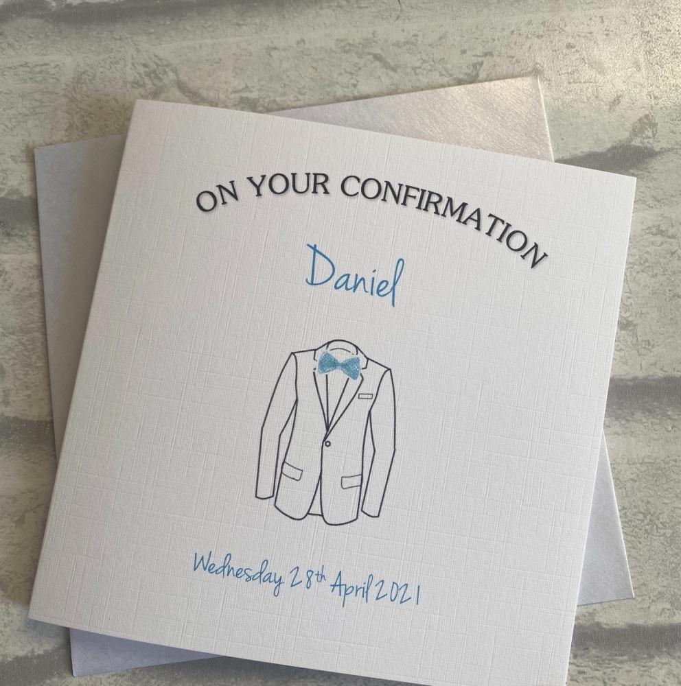 Boys Holy Communion / Confirmation Card- suit jacket