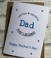 Fathers Day Card - The Man, The Myth, The Legend