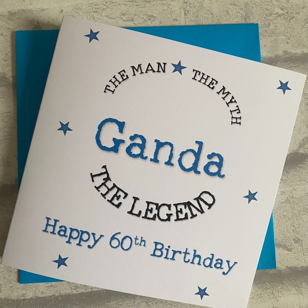 Birthday Day Card for him - The Man, The Myth, The Legend