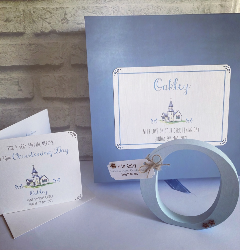 Christening Package with initial