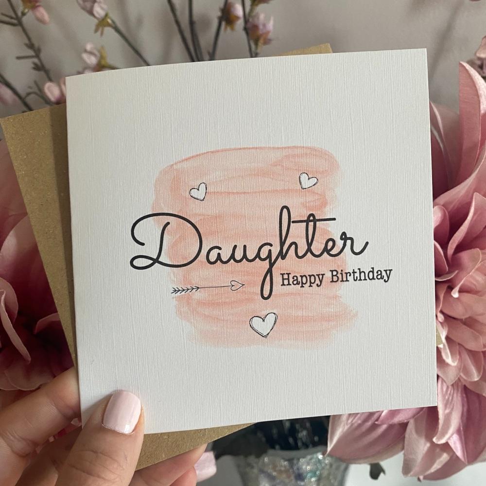Birthday card for her - brush stroke