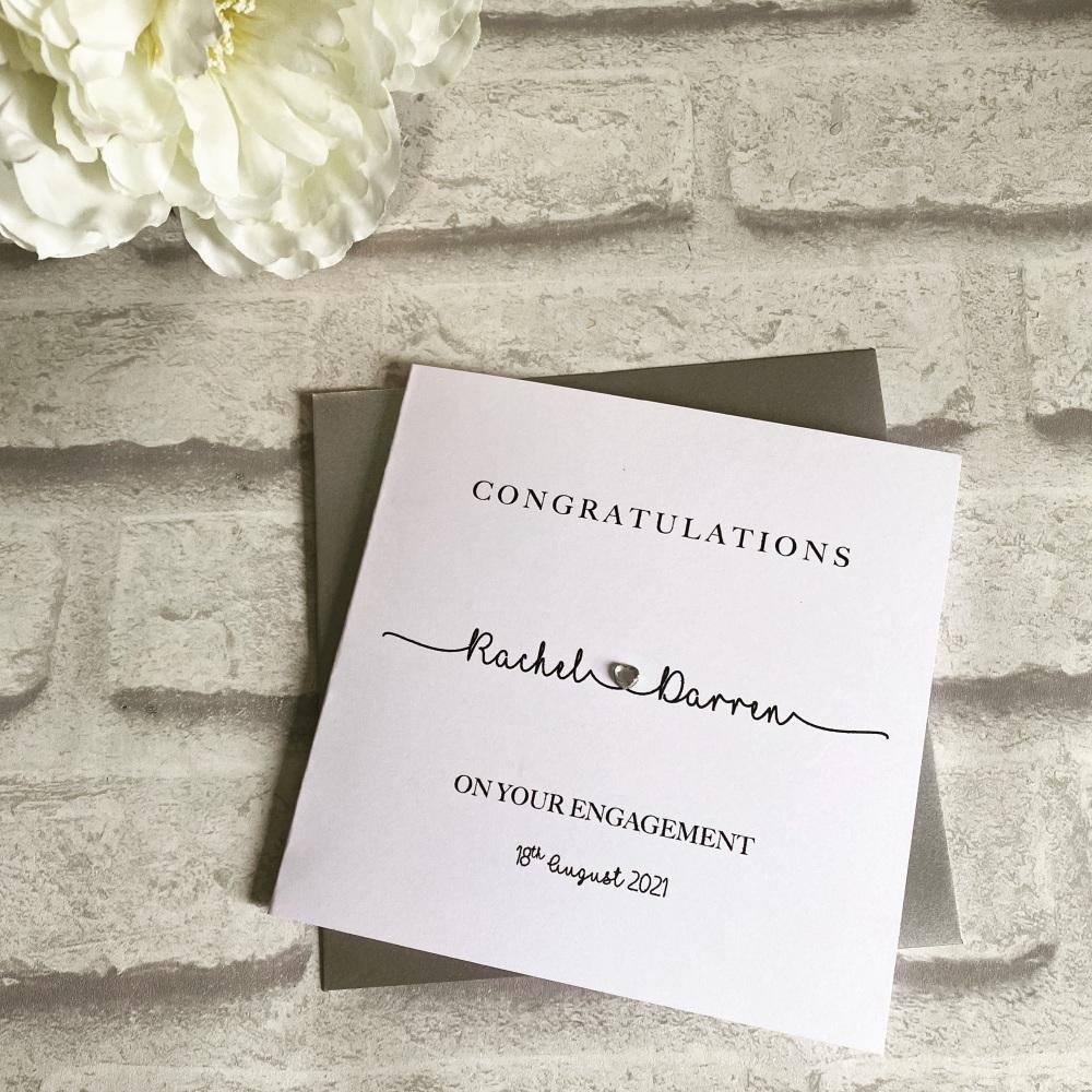 Engagement Congratulations Card - modern calligraphy