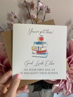 You've got this! Good luck in your new School/Uni Card
