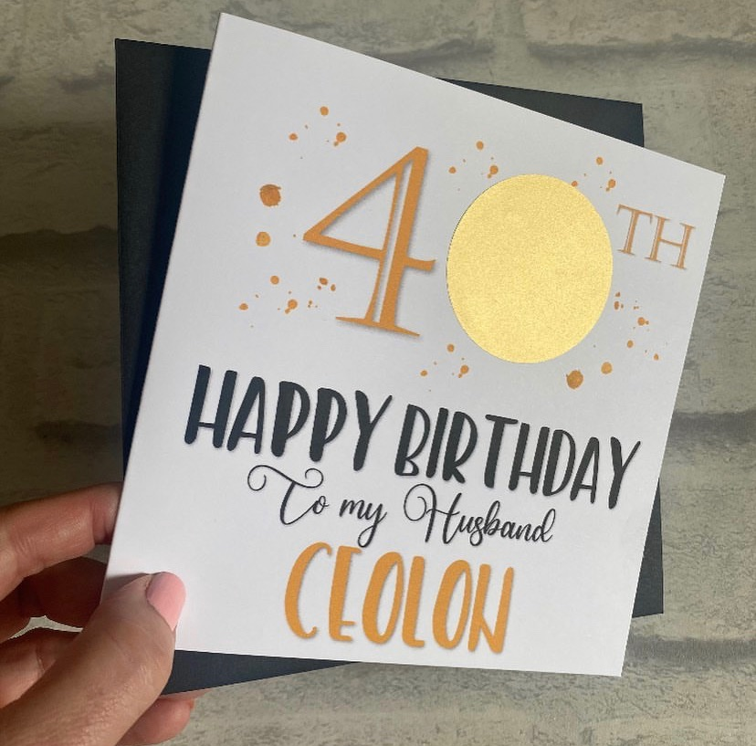 Milestone Age Scratch Birthday Card - 20, 30, 40, 50, 60, 70, 80