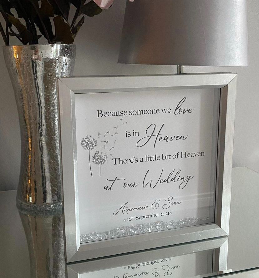 A little Heaven at our Wedding - Personalised