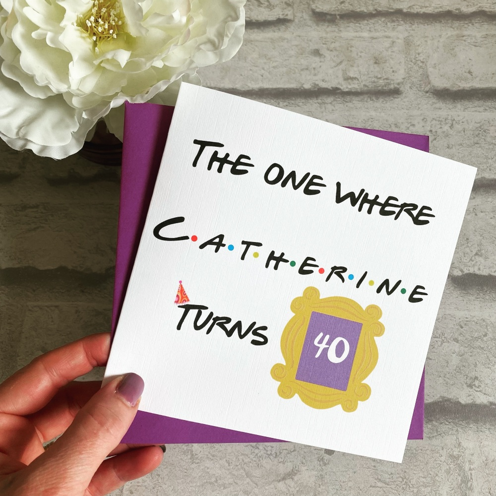 Birthday Card - Friends theme - Social Distancing