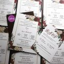 Wedding invitation - Burgundy Floral