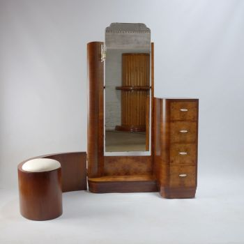 Art Deco Dressing Table with swing stool.c 1930