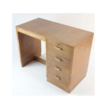 Art Deco Heals Desk limed Oak Circa 1930.
