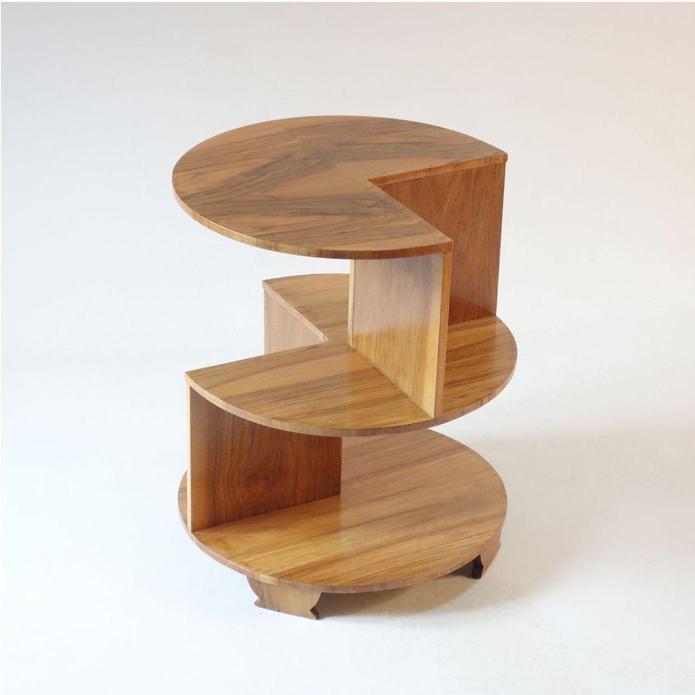 Art Deco Walnut Occasional side table