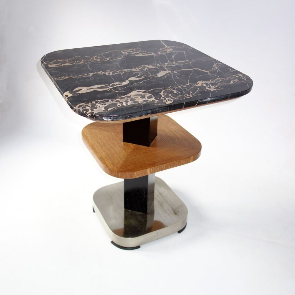 Original Art Deco Marble Topped Table French Circa 1930