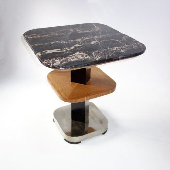 Original Art Deco Portoro Marble Topped Table French Circa 1930 SOLD.