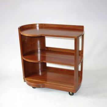 Art Deco Modernist 3 Tier trolley by Bowman Bros c1930