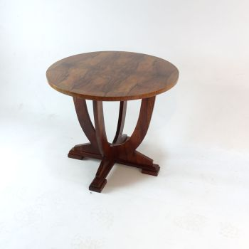 Art Deco Walnut Circular Coffee Occasional Table 1930s