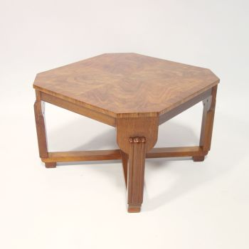 Art Deco Figured Walnut Side Table English C1930