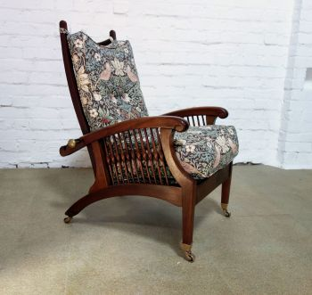 Arts & Crafts  Reclining Armchair after a design by Philip Webb circa 1901