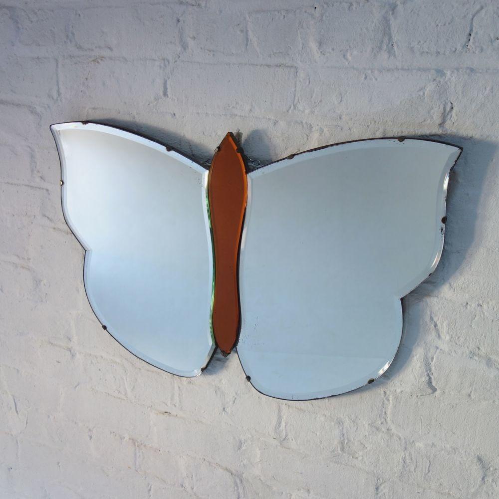 Art Deco Butterfly Mirror Circa 1930