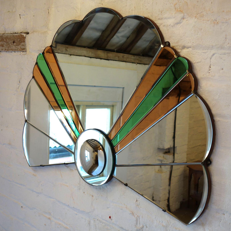 Art deco mirror fan 4
