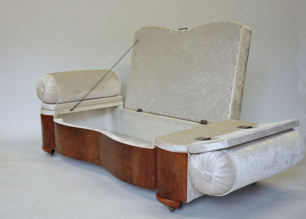 Art Deco Daybed Ottoman English 1930s Colin Pender Antiques