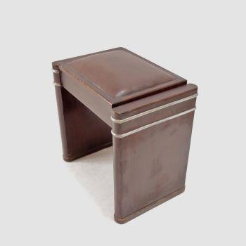 Art Deco Mini Eavestaff Piano stool in Walnut C1930