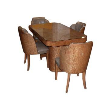 Art Deco Tub Dining Suite H&L Epstein Circa 1930