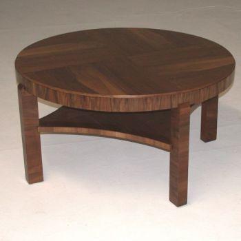 Large Art Deco Coffee Table Walnut English Circa 1930