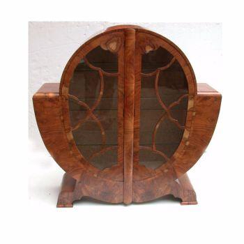Art Deco Oval Display Cabinet English Circa 1930