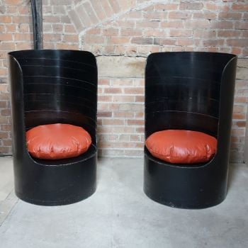 Tomotom chairs designed by Bernard Holdaway in  1966