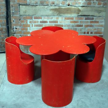 Tomotom Dining Suite Designed by Bernard Holdaway in 1966