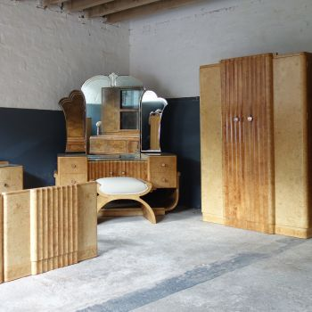 Art Deco Bedroom Suite 8 Piece by H&L Epstein Circa 1930