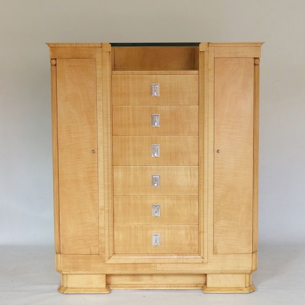 Art Deco Dressing Chest in Satin Birch in manner of Alister Maynard and Bet