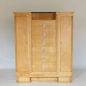 Art Deco Dressing Chest in Satin Birch by Alister Maynard and Betty Joel Circa 1938 SOLD
