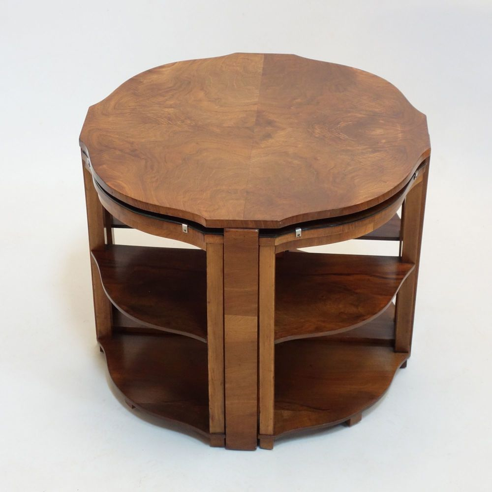 Art Deco Nest of Tables in Walnut 1930s