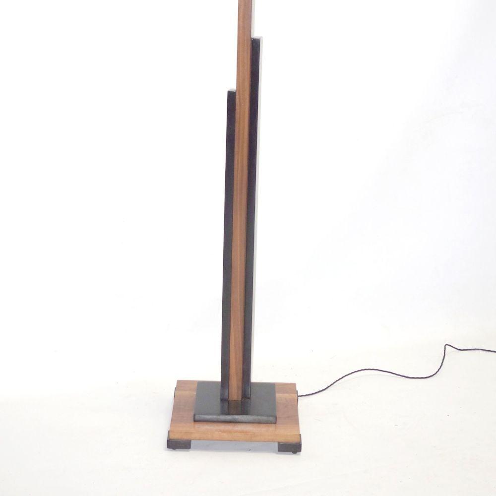 Art Deco Walnut Skyscraper Standard lamp