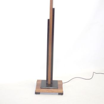 Art Deco Walnut Skyscraper Standard lamp