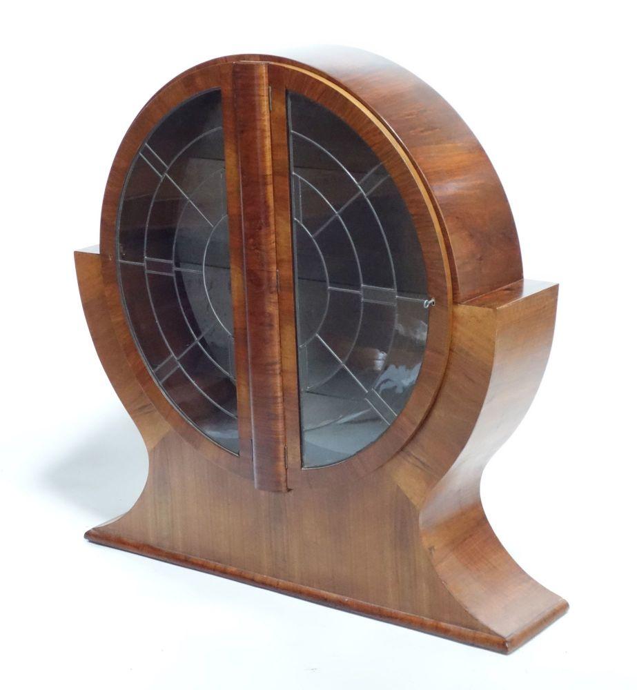 Art Deco Round Display Cabinet 1930s.